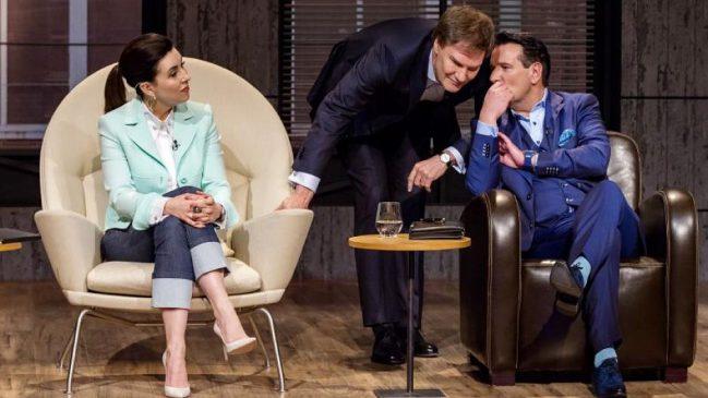 Carsten Maschmeyer und Ralf Dümmel beraten sich neben Judith Williams. Und dann kommt es tatsächlich zum Deal mit allen Investoren.