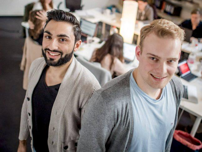 Giannis Paraskevopoulos und Philip Schur (v.l.) haben das Start-up-Unternehmen Brick Spaces gegründet.